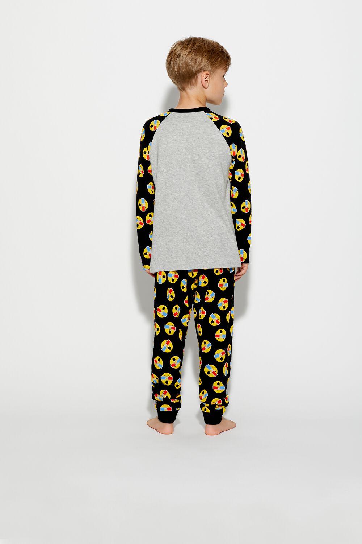Dlhé Pyžamo s 3D Emotikonmi