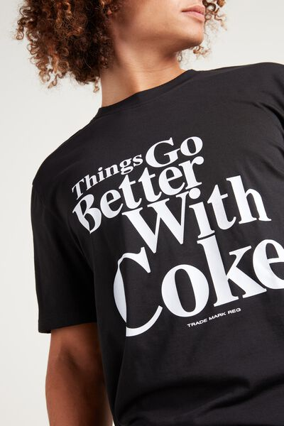 Coca Cola Print Cotton T-Shirt