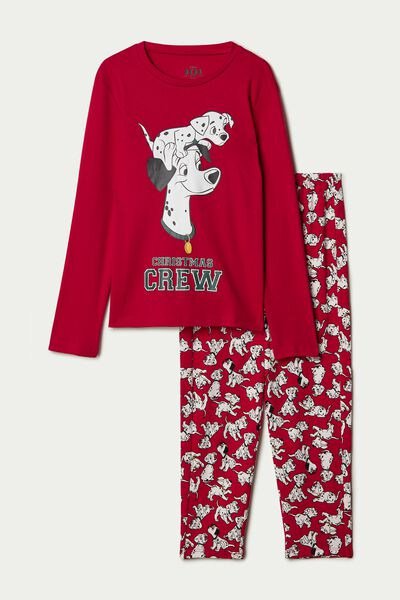 Pyjama Long Coton Disney 101 Rouge