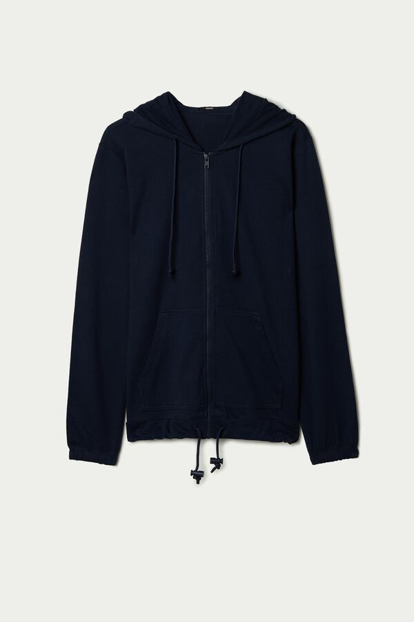 Hoodie Sweatshirt with Zipper and Drawstring