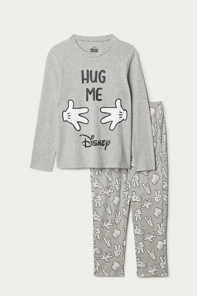 "Boy's Mickey Mouse ""Hug me"" Long Cotton Pyjamas"