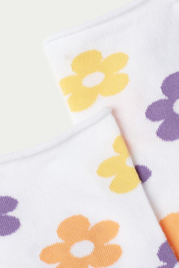 Calcetines Cortos Algodón Sin Borde Estampados