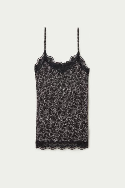 V-Neck Camisole with Lace Insert