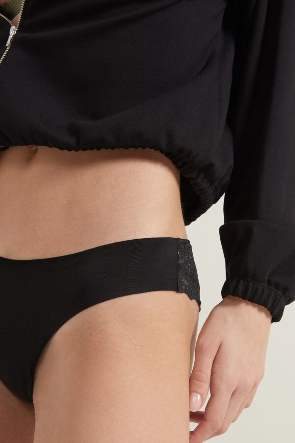 Culotte Brésilienne en Coton Sans Coutures et Dentelle Recyclée