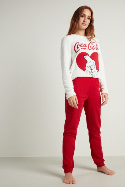 Long Fleece Coca Cola Pajamas
