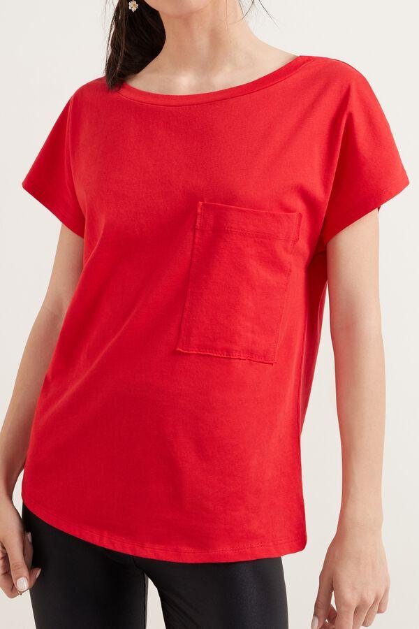 T-shirt en Coton avec Poche