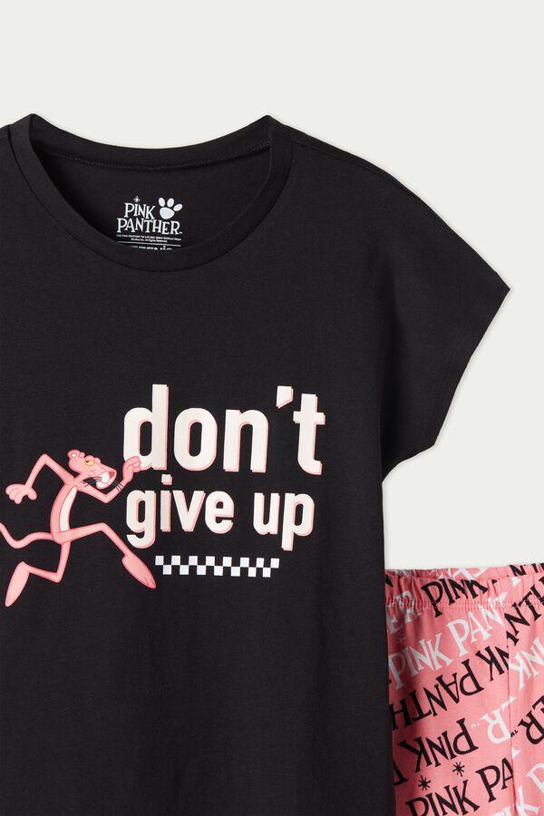 Pyjama Court Coton Pink Panther