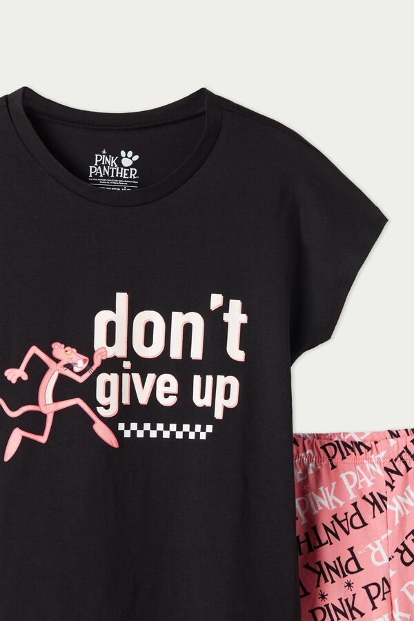 Pijama Corto de Algodón Pink Panther