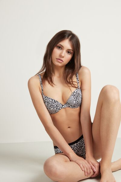 Athens Printed Push-Up Bra