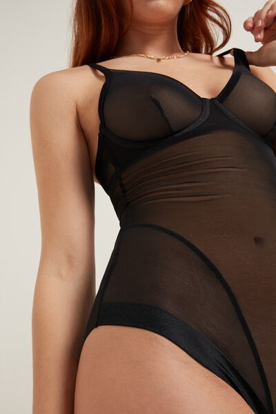 Invisible Mesh Tulle Bodysuit