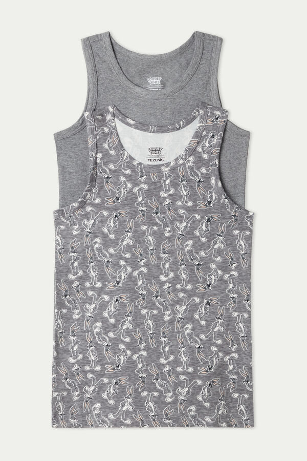 2 x Looney Tunes Printed Vest Multipack