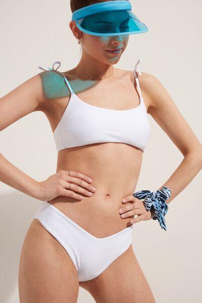 Bikini Slip Sgambato White 3D