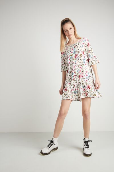 Short Flounced Ruffled Dress