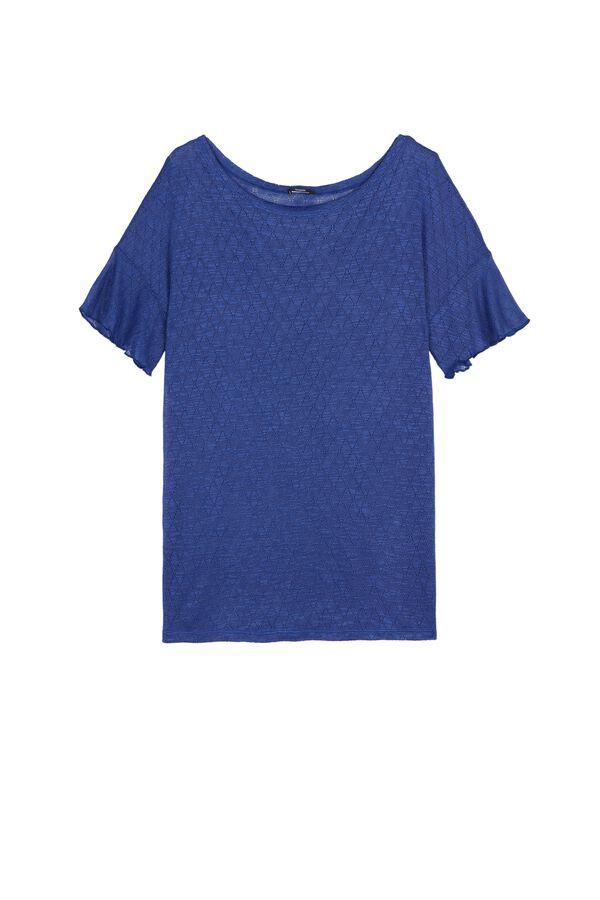 Short Sleeve Top in Diamond Pattern Light Jersey