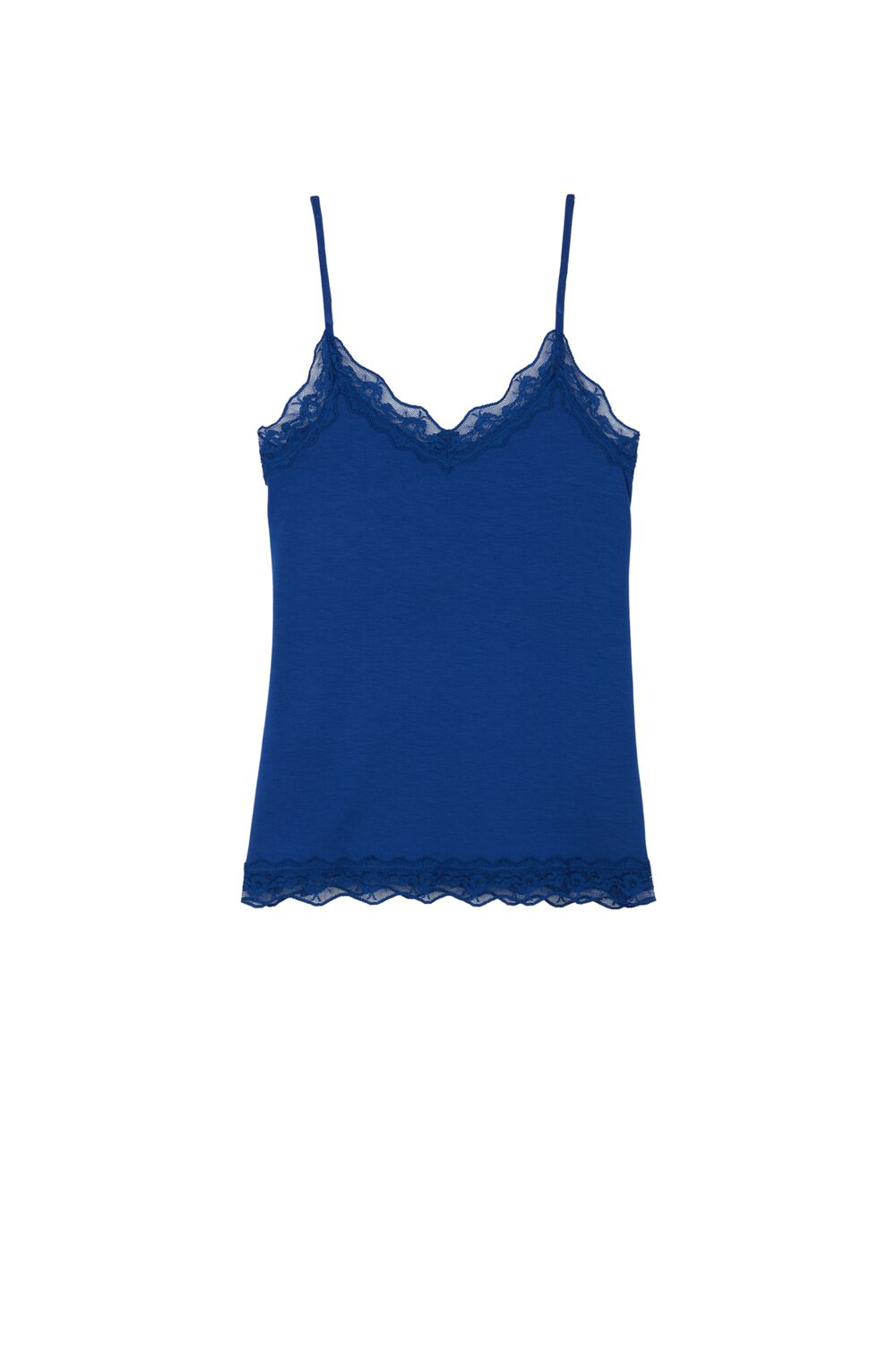 Lace Insert Tank Top
