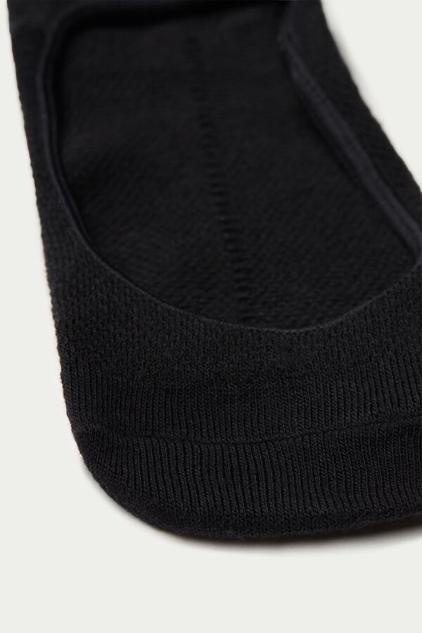 Short Socks in Worked Cotton Mesh