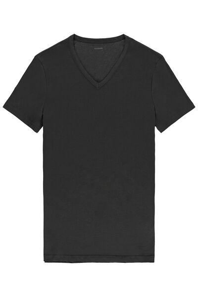 Bavlnené Úpletové Tričko s Krátkymi Rukávmi a Výstrihom do V