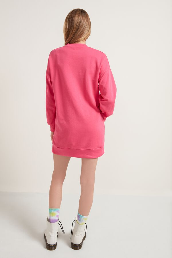 Langarm-Sweatshirt im Maxi-Oversize