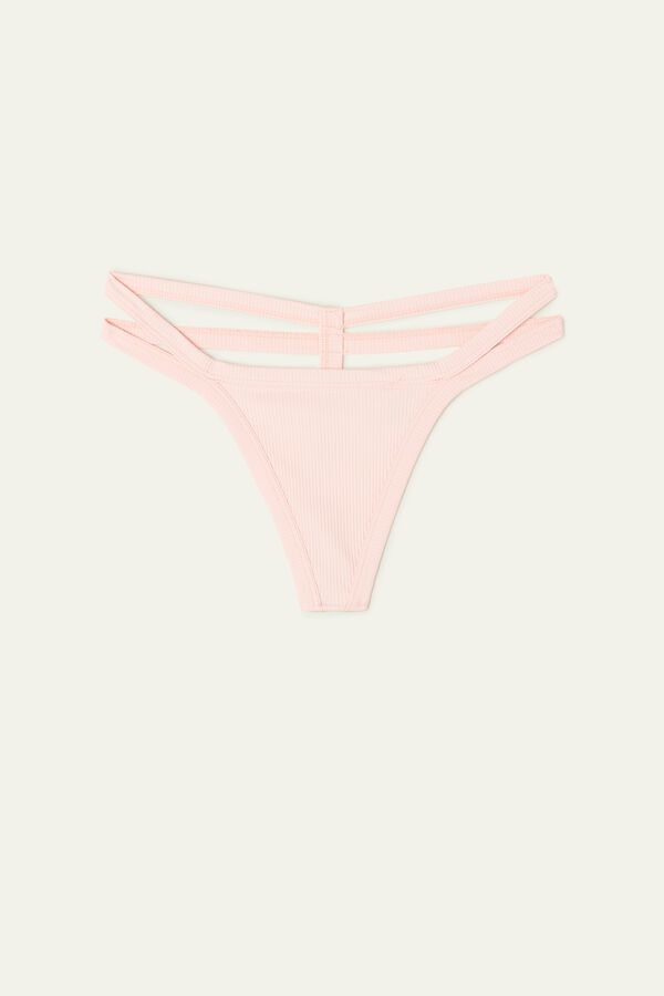 Young Rib Double Panel G-String
