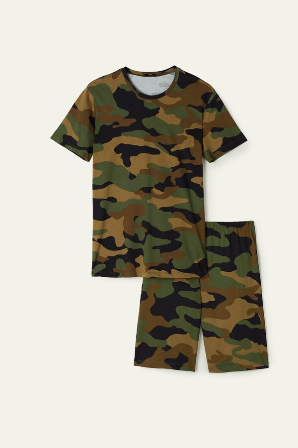 Men's Short Camouflage Print Pyjamas