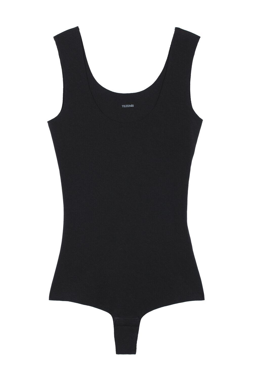 Laser-Cut Cotton Bodysuit