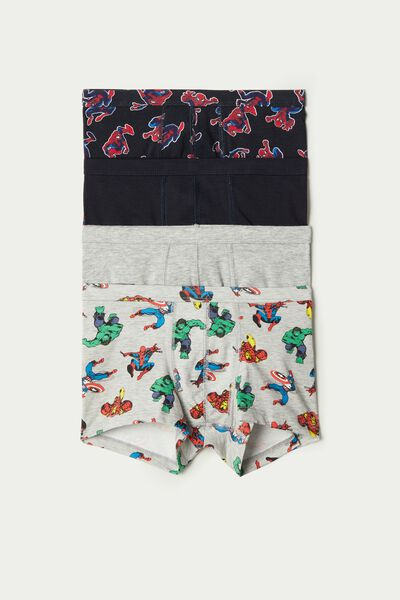 Pack of 4 Cotton Boxers with Spiderman Print