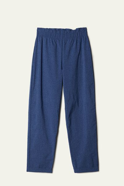 Joggers in Stretch Fabric with Cuffs