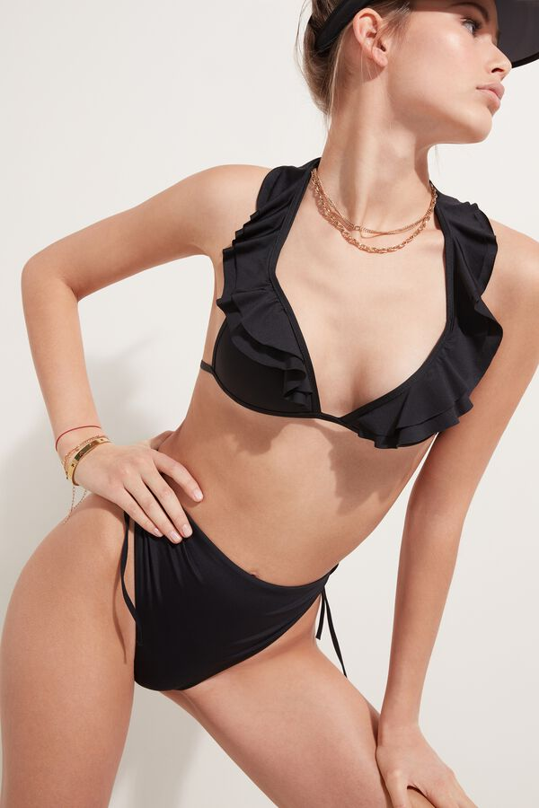 Triangle Padded Bikini with Ruffle