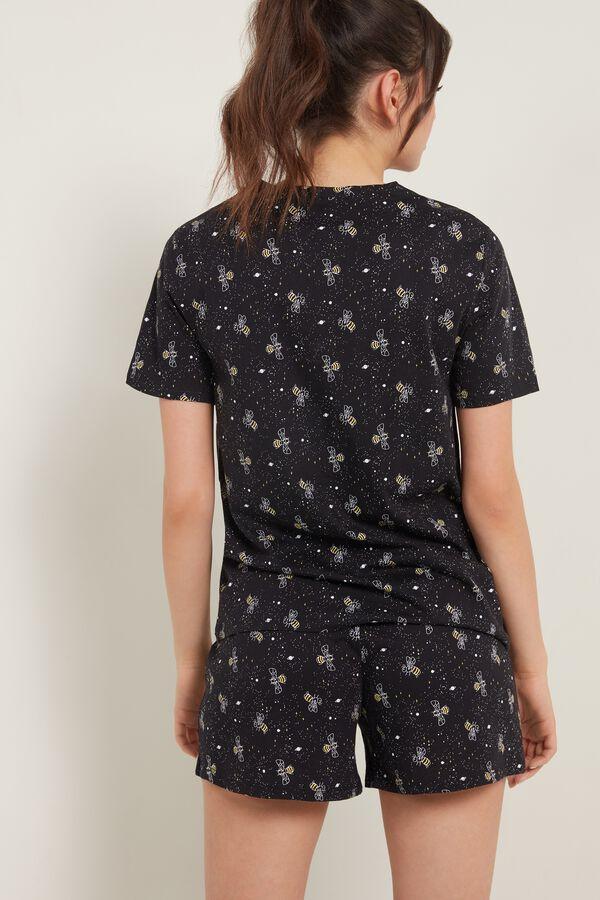 Bee Print Organic Cotton Short Pyjamas