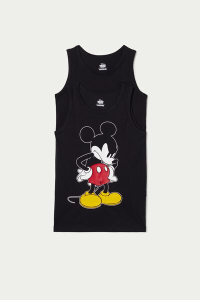 Pack of 2 Mickey Mouse Printed Cotton Vests