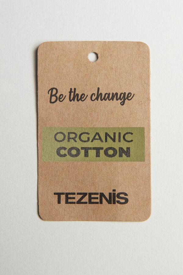 Top aus Baumwolle mit offenkantiger Verarbeitung