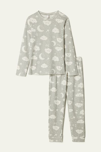 Long Moon and Cloud Print Pyjamas