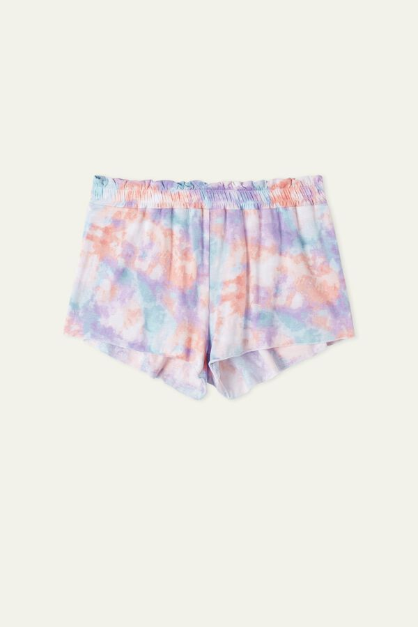 Hotpant Shorts with Gathered-Detail Waist