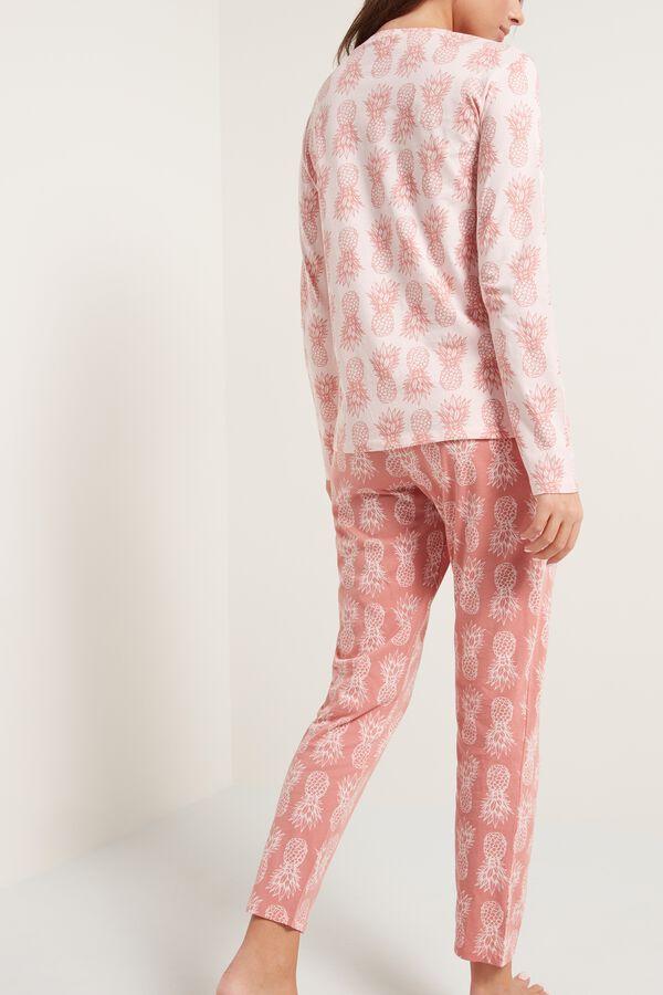 Long Cotton Pineapple Print Pajamas