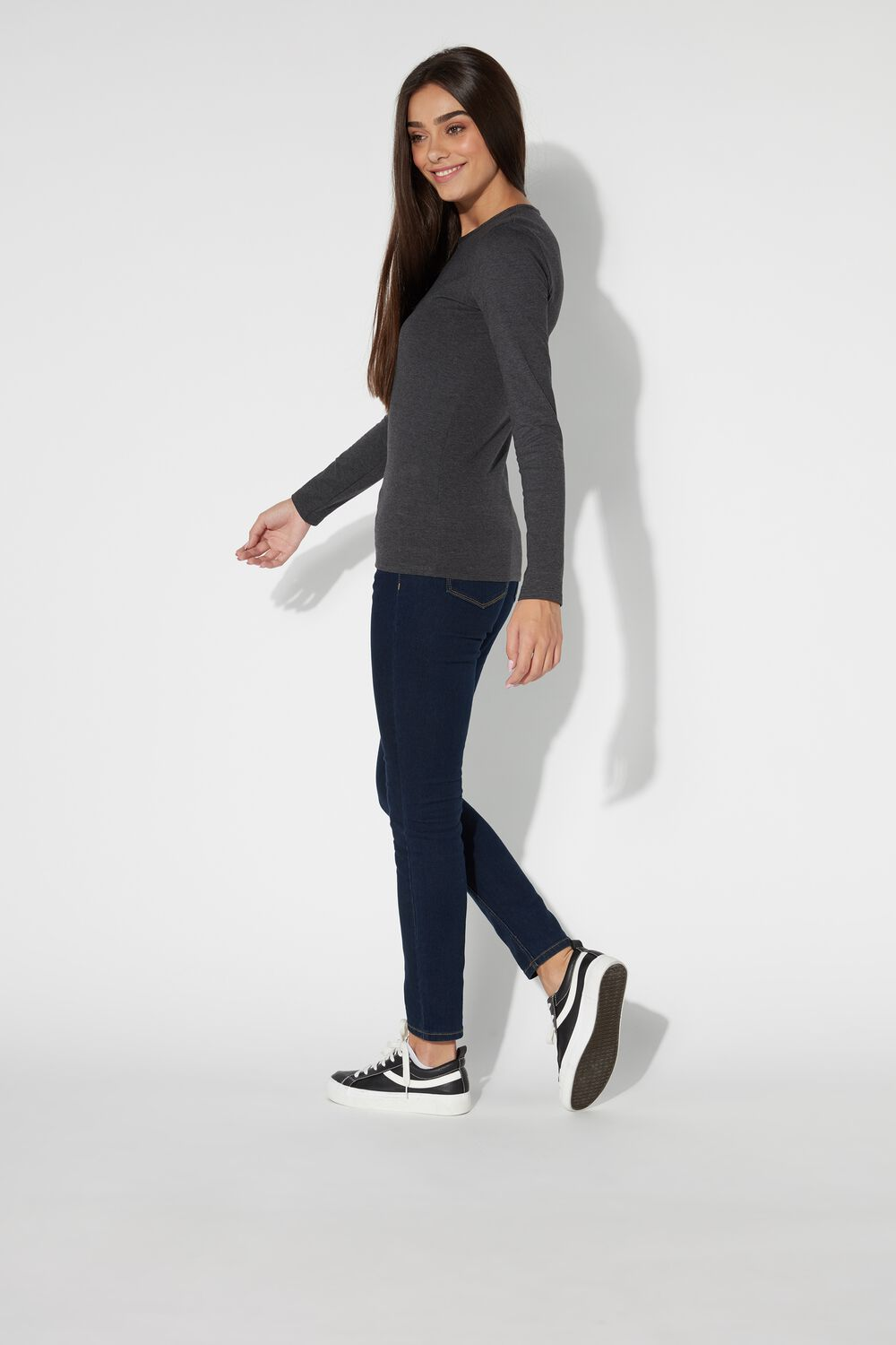 Long-Sleeve Thermal Cotton Top