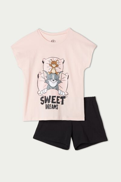 Kurzer Pyjama aus Baumwolle Tom and Jerry Sweet Dreams