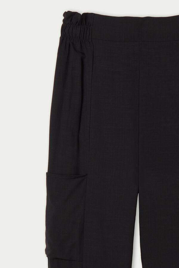 Brushed Canvas Joggers with Pockets