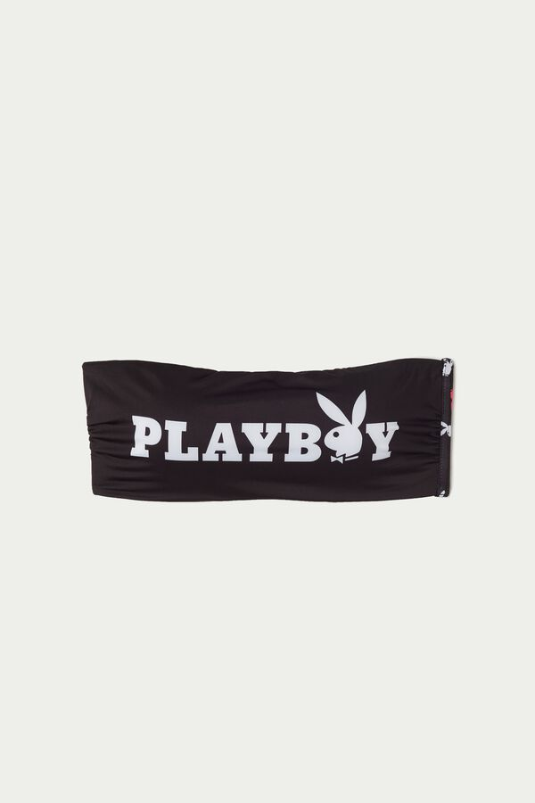 Playboy Bandeau Effect Bikini Top