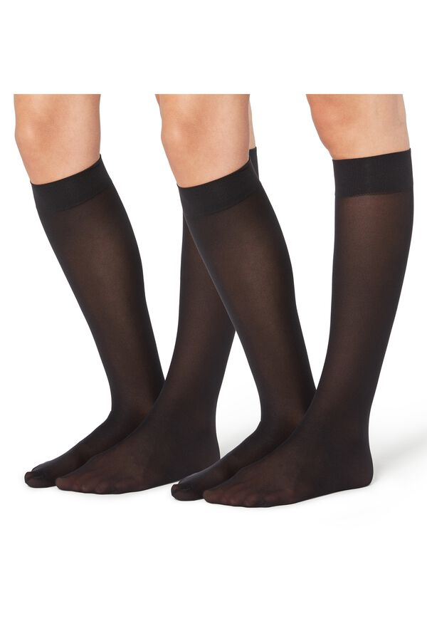 2 X 50 Den Microfiber Knee-Highs