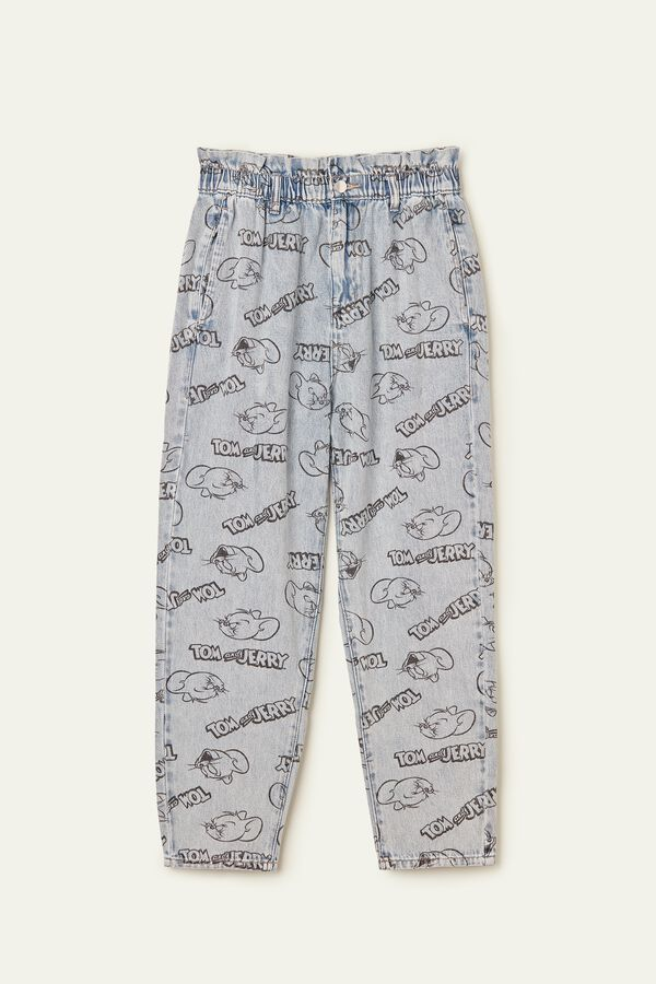 Baggy Tom and Jerry Print Jeans