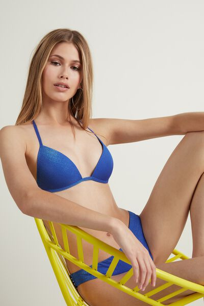 Glowing Summer Blue Triangle Bikini