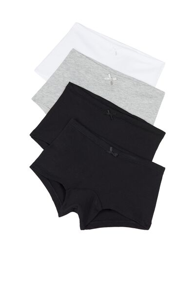 Pack of 4 Cotton Shorts