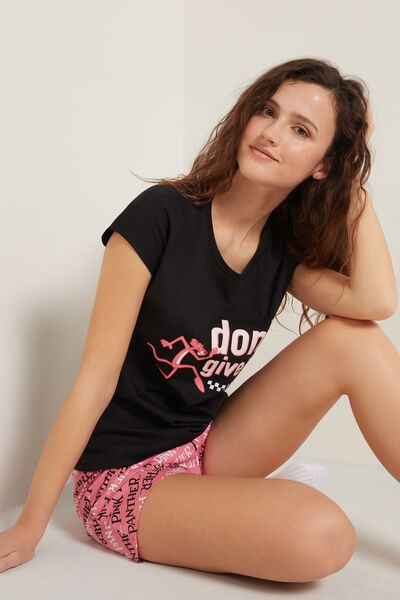 Pink Panther Short Cotton Pyjamas