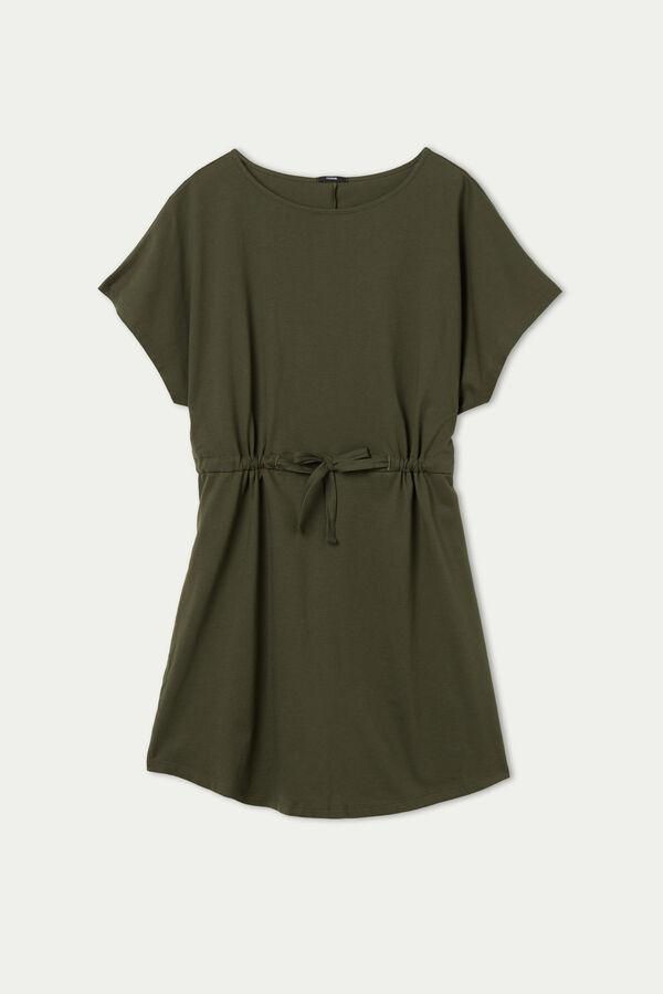Φόρεμα με Μανίκια Κιμονό και Κορδόνι