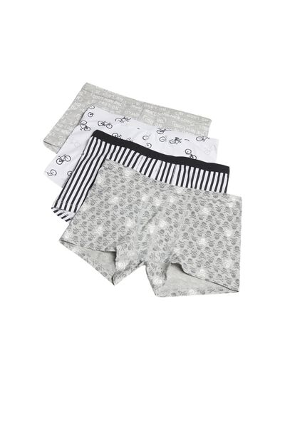 Pack of 4 Printed Cotton Boxers