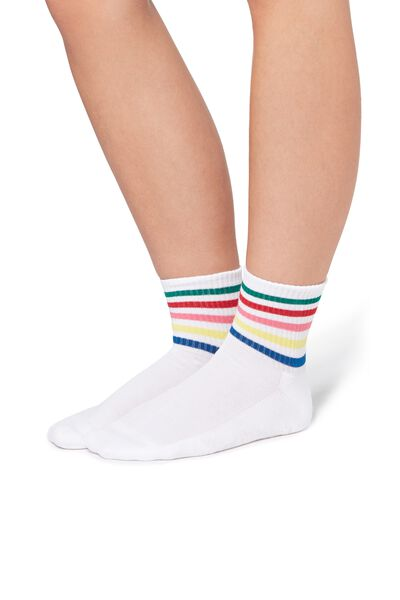Короткие Спортивные Носки из Хлопка с Рисунком, в Стиле 90-х