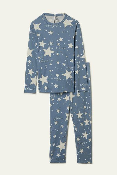Girl's Long Star Print Pyjamas