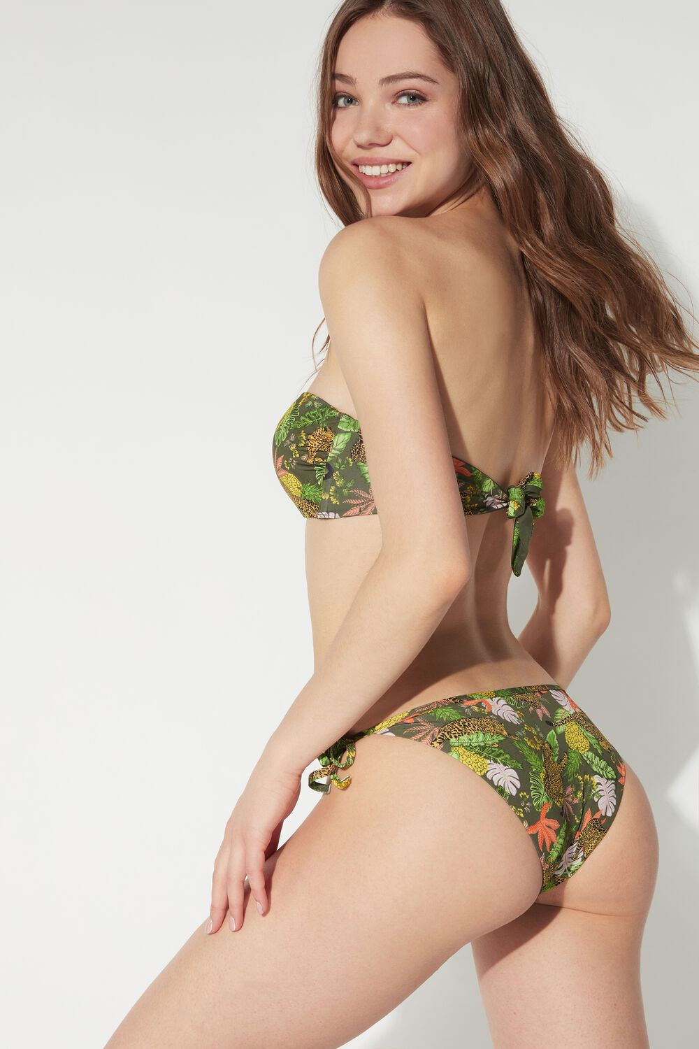Jungle Safari Bikini Bottoms with Ties