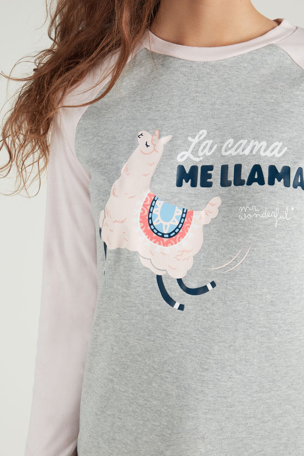 "Camiseta de Manga Larga de Algodón Mr. Wonderful ""Llamazing dreams"""
