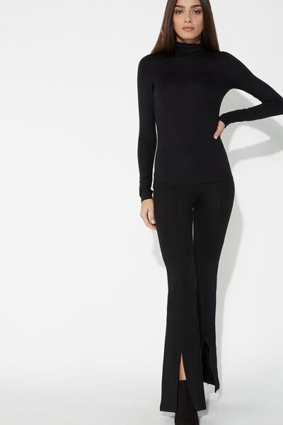 Milano Stitch Yoga Dance Pants with Slits
